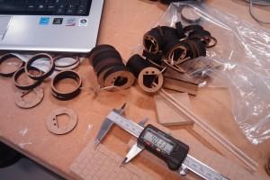Assembling the laser-cut parts
