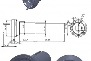 Technical drawings of parts